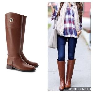 {Tory Burch} Junction Leather Riding Boots